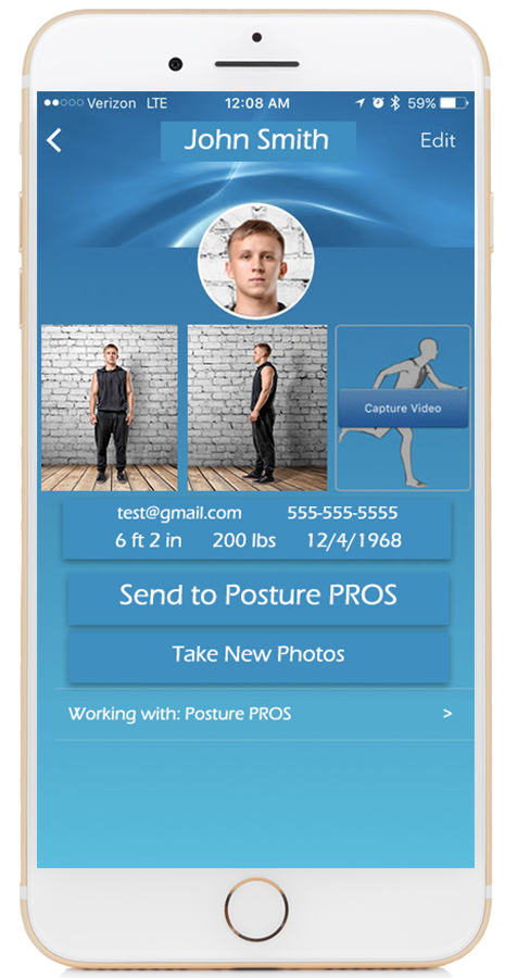 Posture PROS Free Posture App for Posture Screens Apple Front