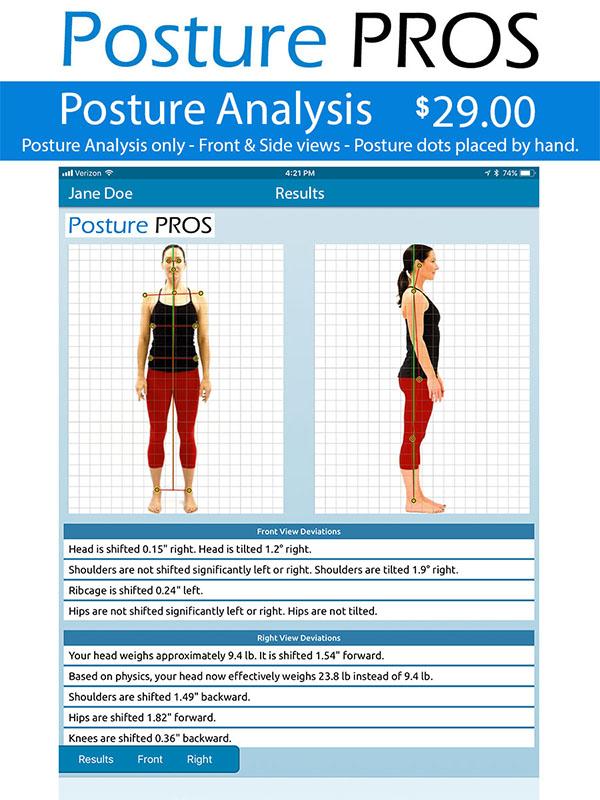 Posture PROS Posture Analysis Posture Screen Posture Analysis Only