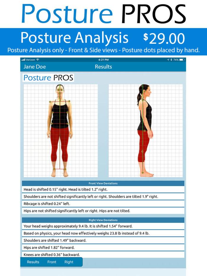 Posture PROS Posture Analysis Posture Screen Posture Only
