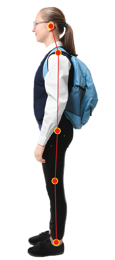 Child Backpack - Bad Posture - Kids wearing heavy backpacks can increase bad posture in Kids